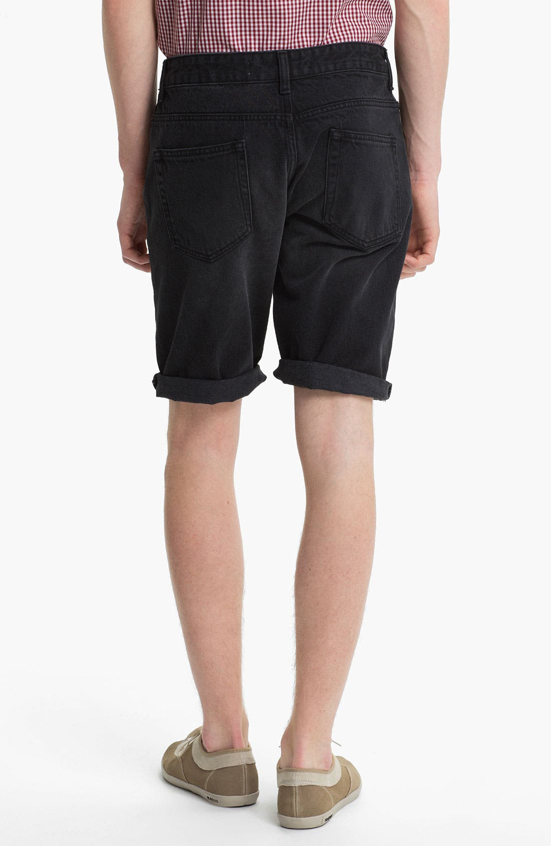 Alternate Image 4  - Topman Skinny Fit Denim Shorts