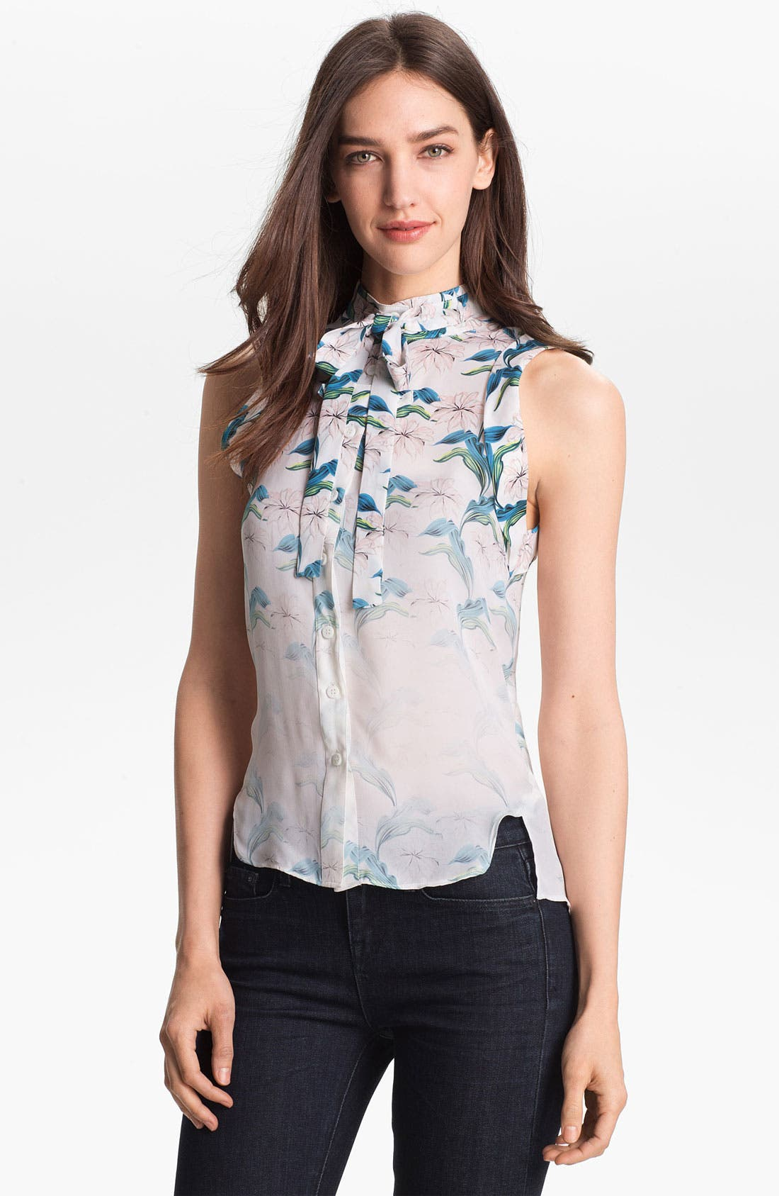 Alternate Image 1 Selected - Rebecca Minkoff 'Couric' Silk Top