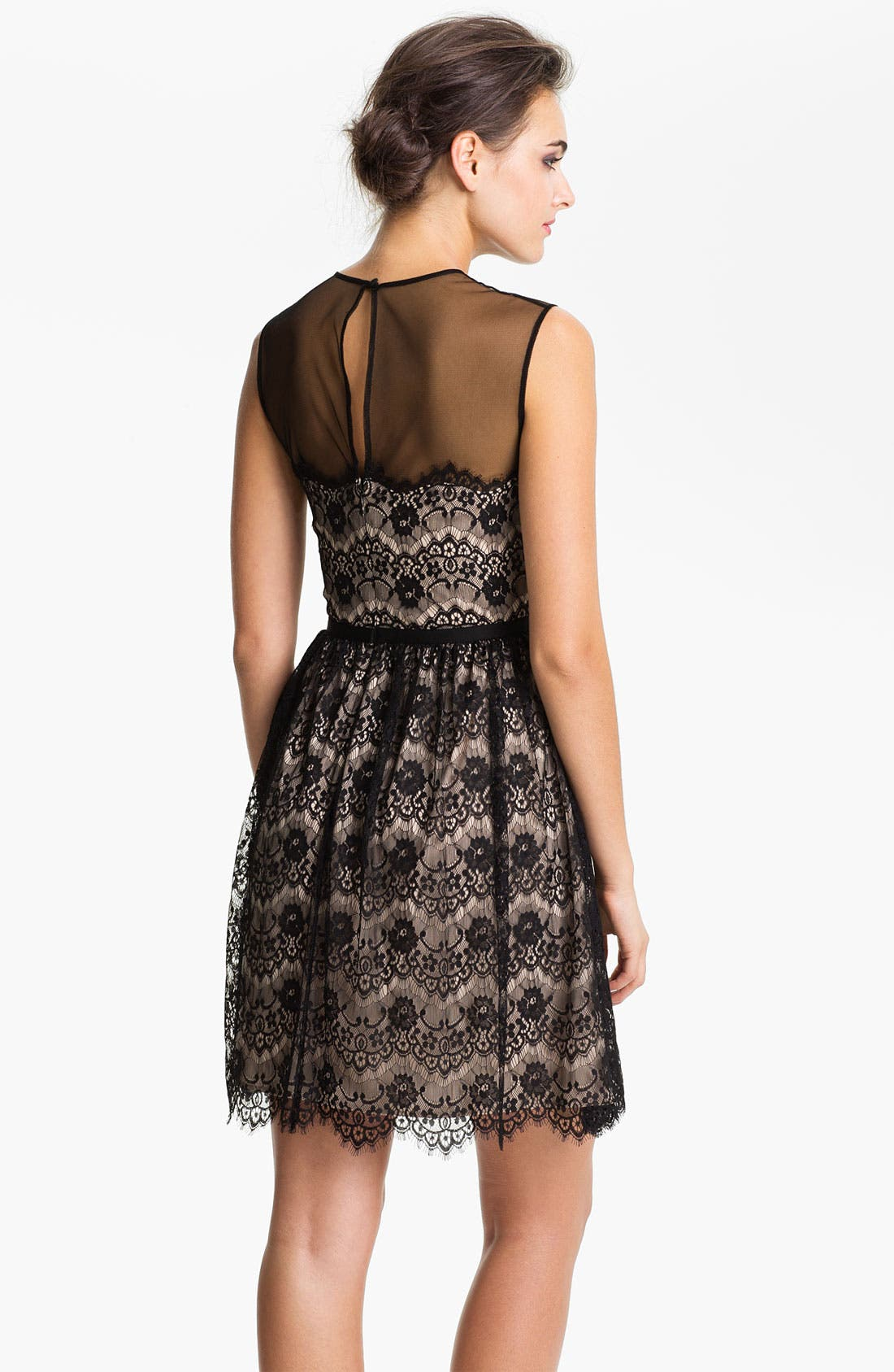 Alternate Image 2  - Maggy London Lace Fit & Flare Dress (Petite)
