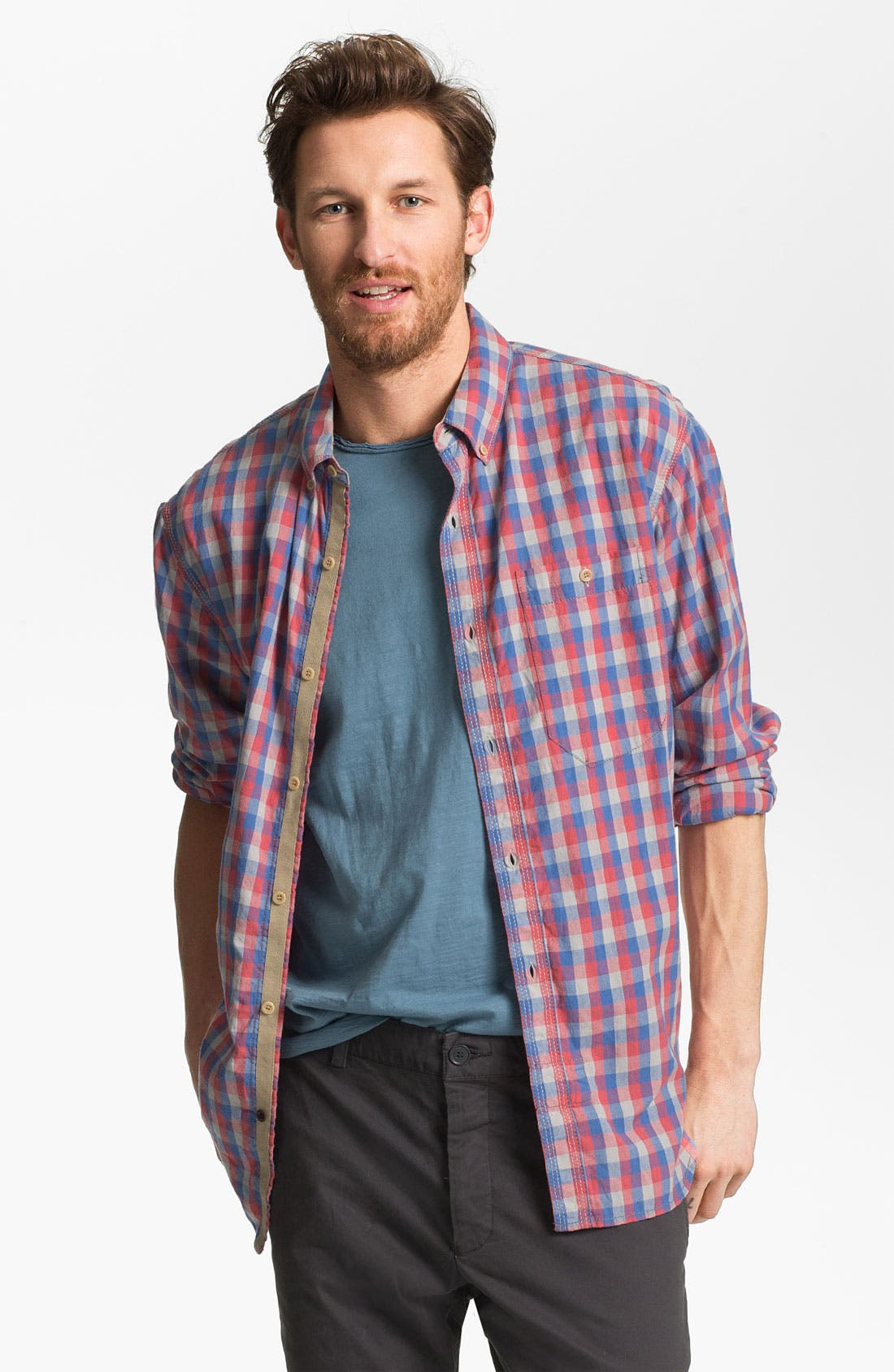 Main Image - French Connection Slim Fit Sport Shirt (Online Only)