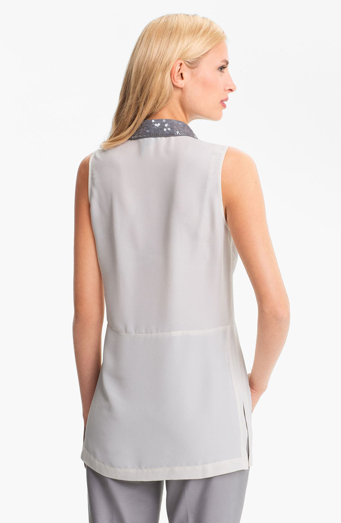 Alternate Image 2  - Nic + Zoe Sequin Collar Sleeveless Blouse (Petite)