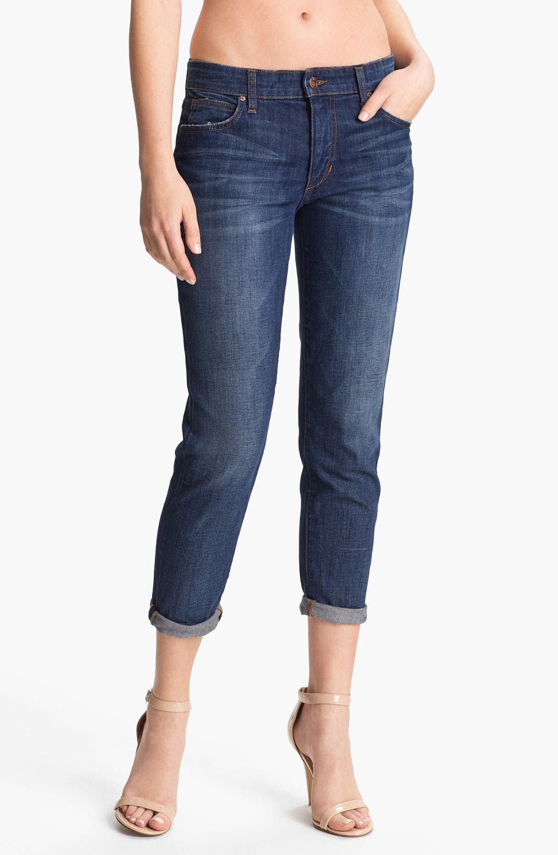 Alternate Image 1 Selected - Joe's Relaxed Slim Crop Stretch Jeans (Melodie)