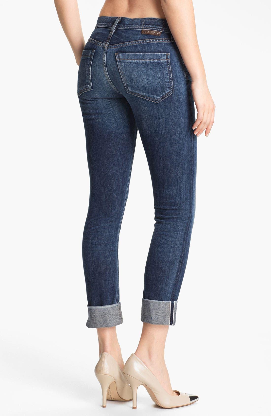 Alternate Image 2  - Goldsign 'Jenny' High Waist Crop Skinny Jeans (Debut)