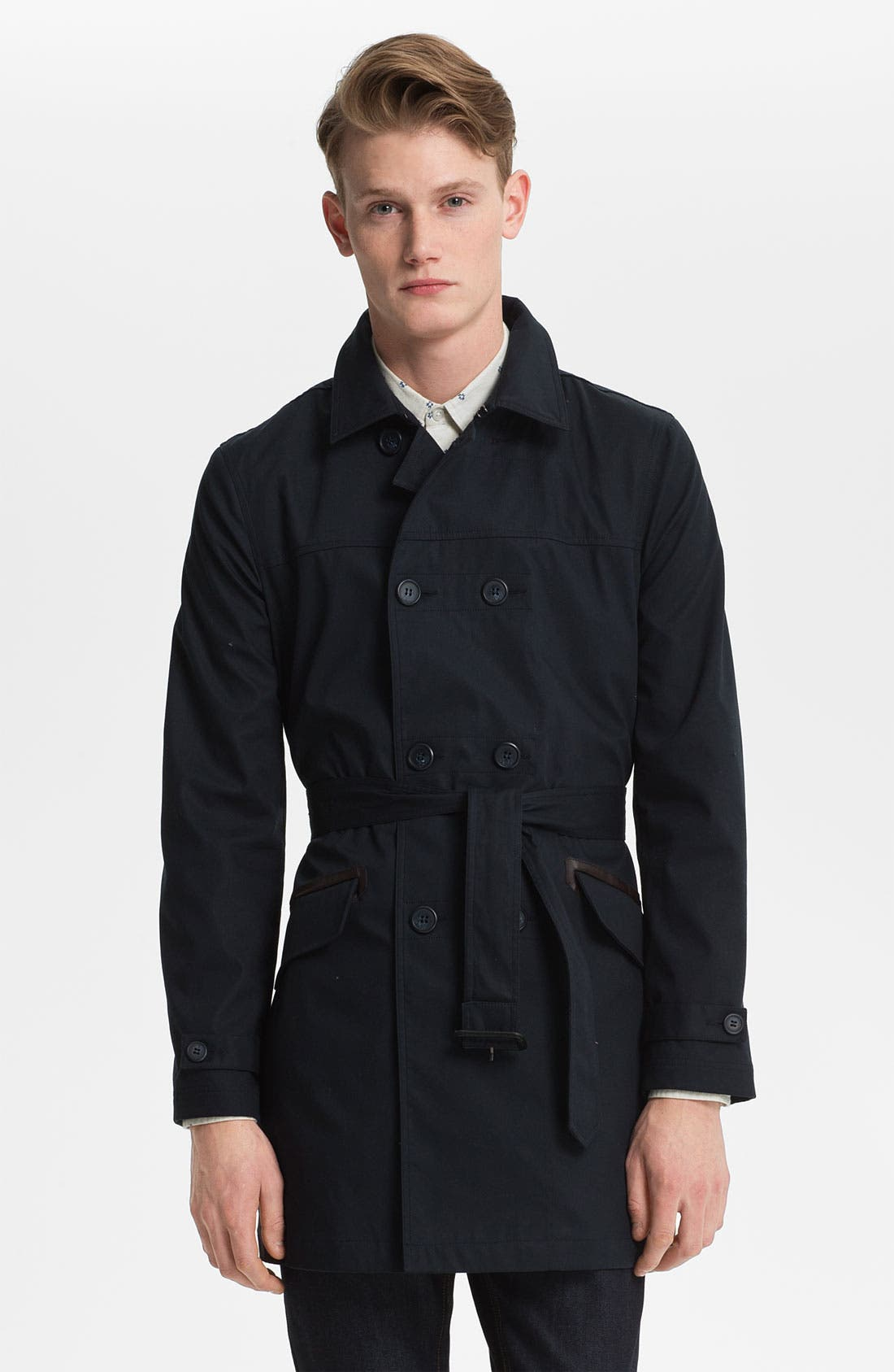 Alternate Image 1 Selected - Topman 'Hadrian' Trench Coat