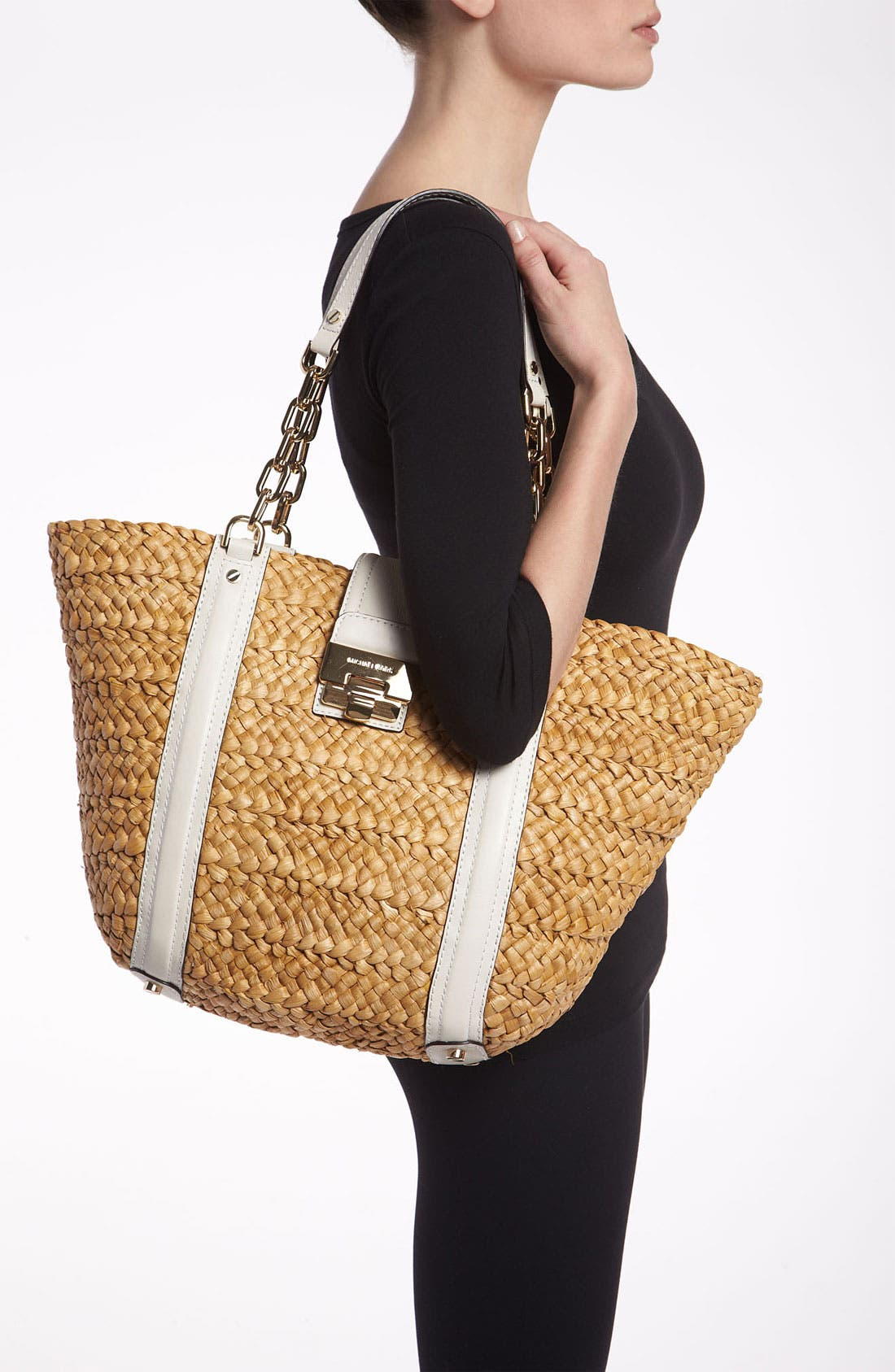 Alternate Image 2  - MICHAEL Michael Kors 'Deneuve - Large' Straw Tote