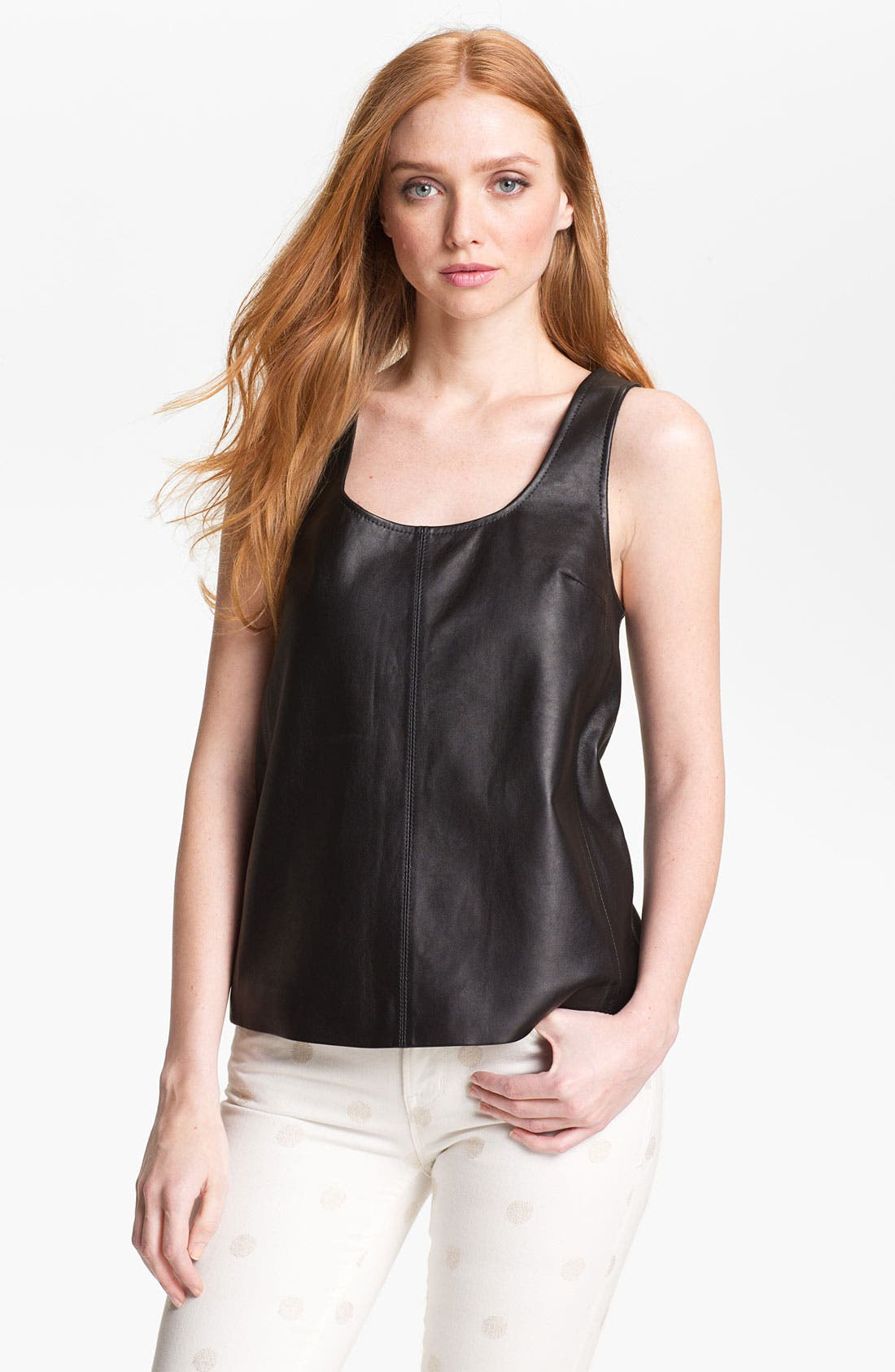 Alternate Image 1 Selected - MARC BY MARC JACOBS 'Jett' Leather Top