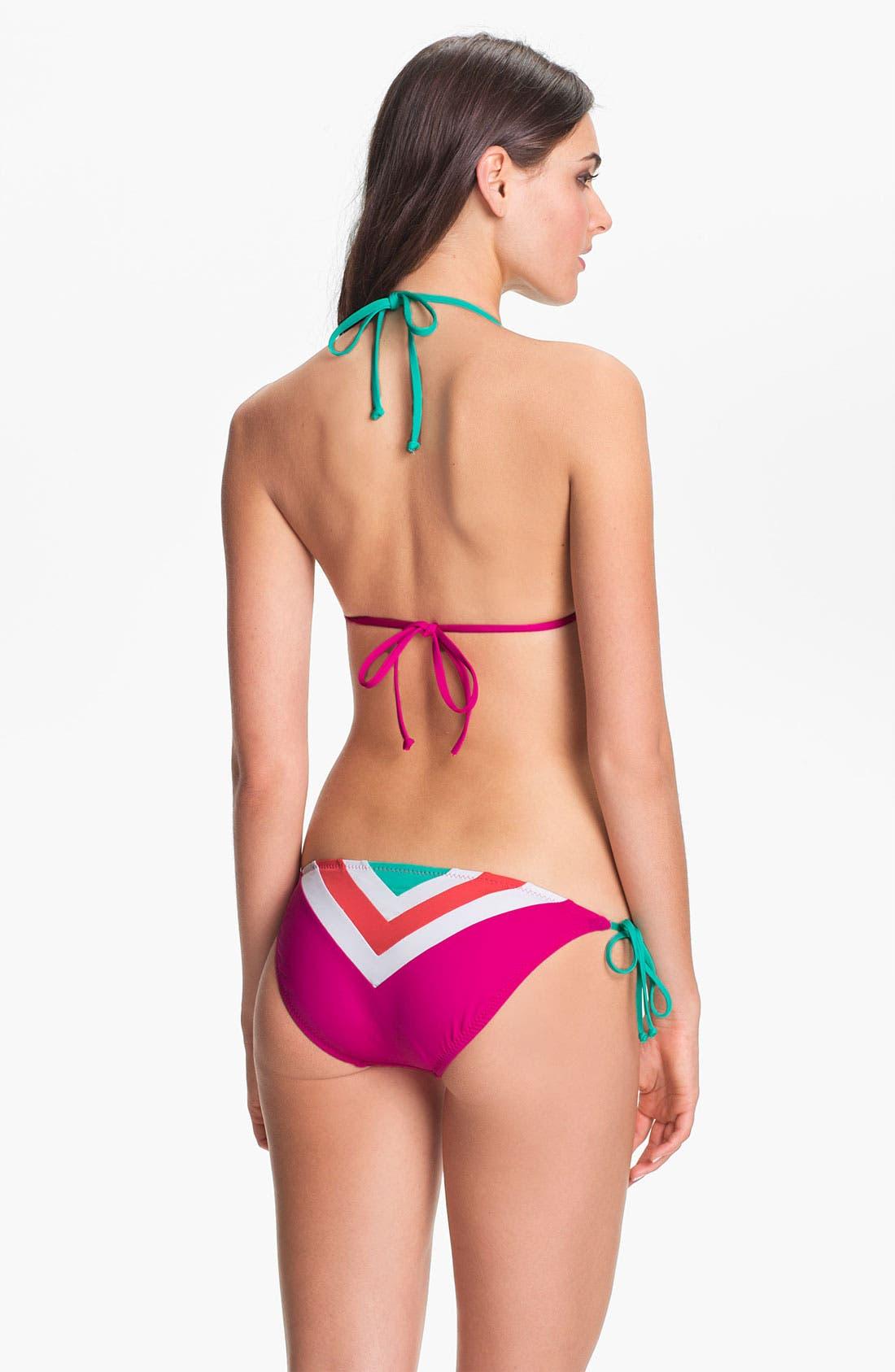 Alternate Image 5  - Becca Chevron Colorblock Triangle Bikini Top