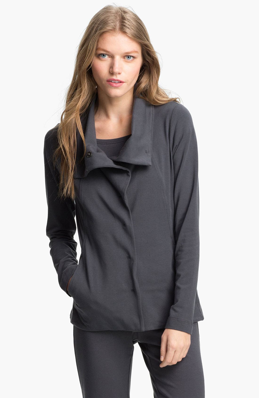 Alternate Image 1 Selected - Eileen Fisher High Collar Shaped Jacket