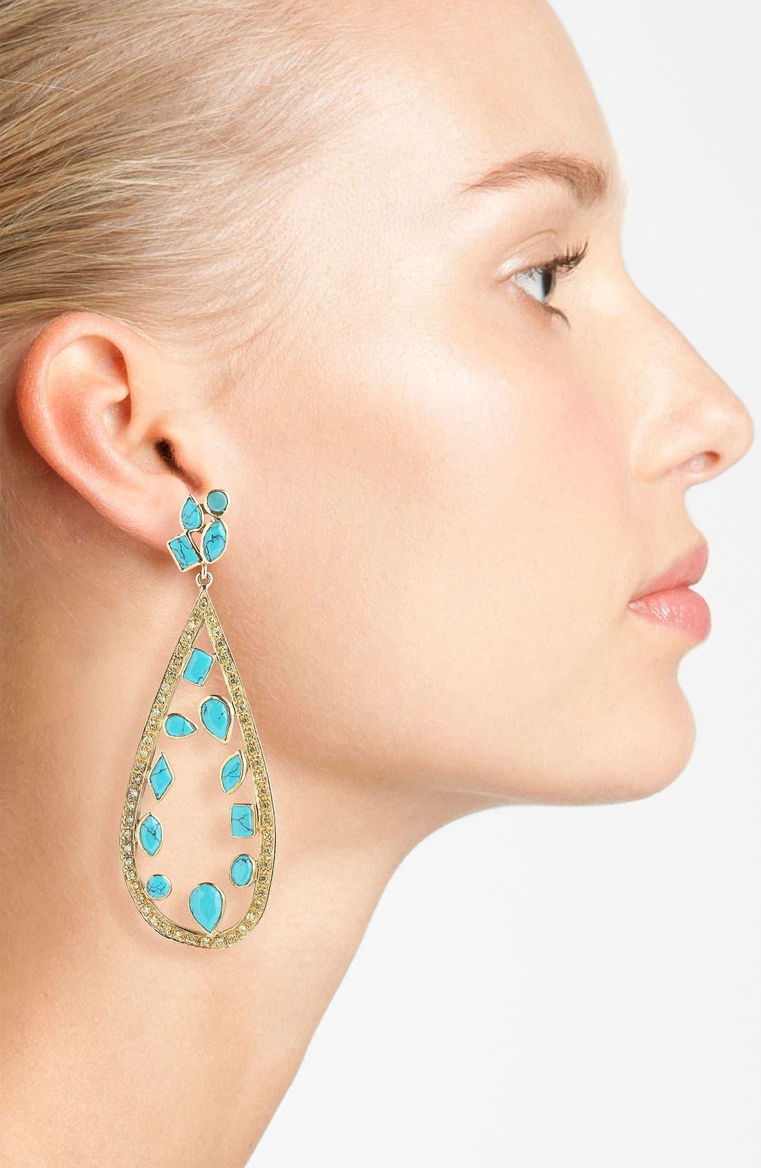 Alternate Image 2  - Melinda Maria 'Floating Mosaic' Open Teardrop Earrings