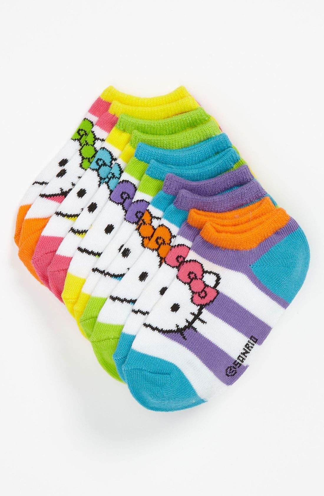 Alternate Image 1 Selected - Hello Kitty® Socks (5-Pack) (Walker & Toddler)