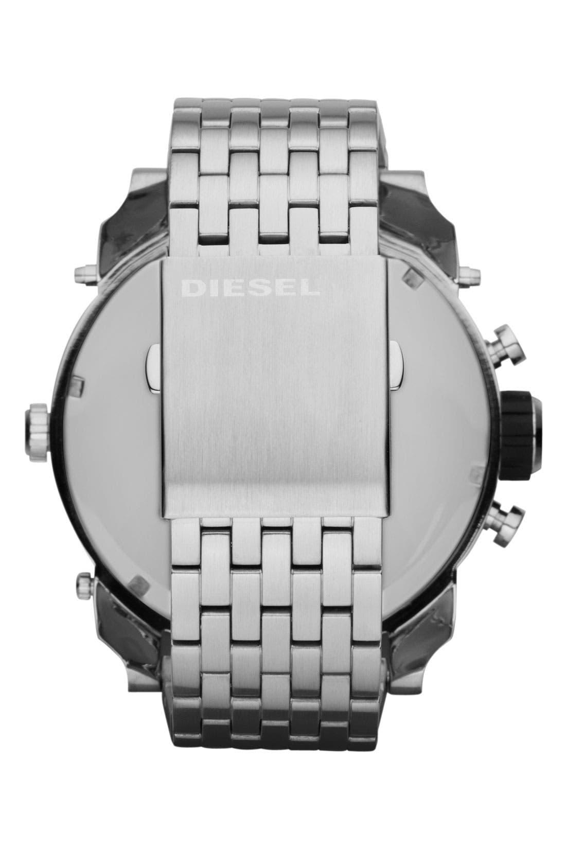 Alternate Image 3  - DIESEL® 'Mr. Daddy' Bracelet Watch, 58mm