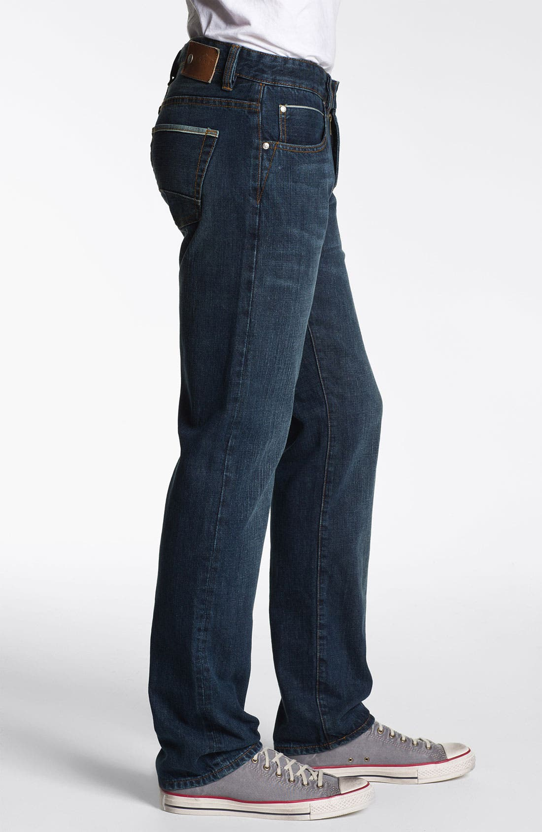 Alternate Image 3  - ROAD 'Selvedge' Straight Fit Jeans (Dark Wash)