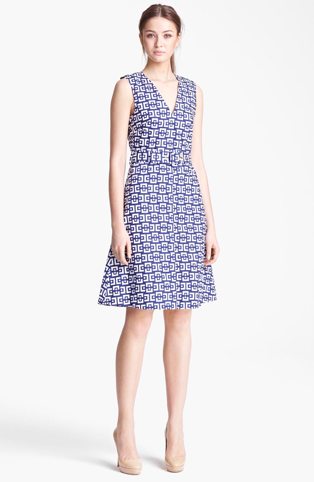Alternate Image 1 Selected - Marni Belted Geo Print Dress