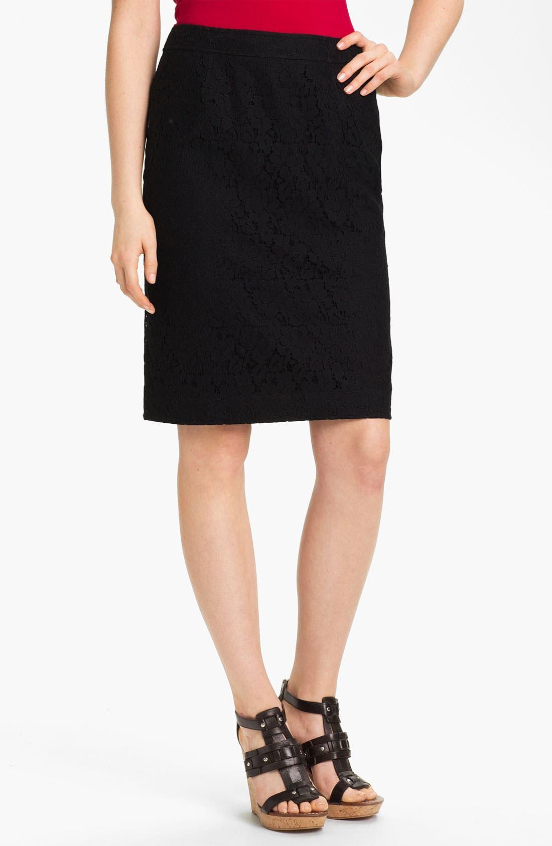 Alternate Image 1 Selected - Halogen® Lace Pencil Skirt