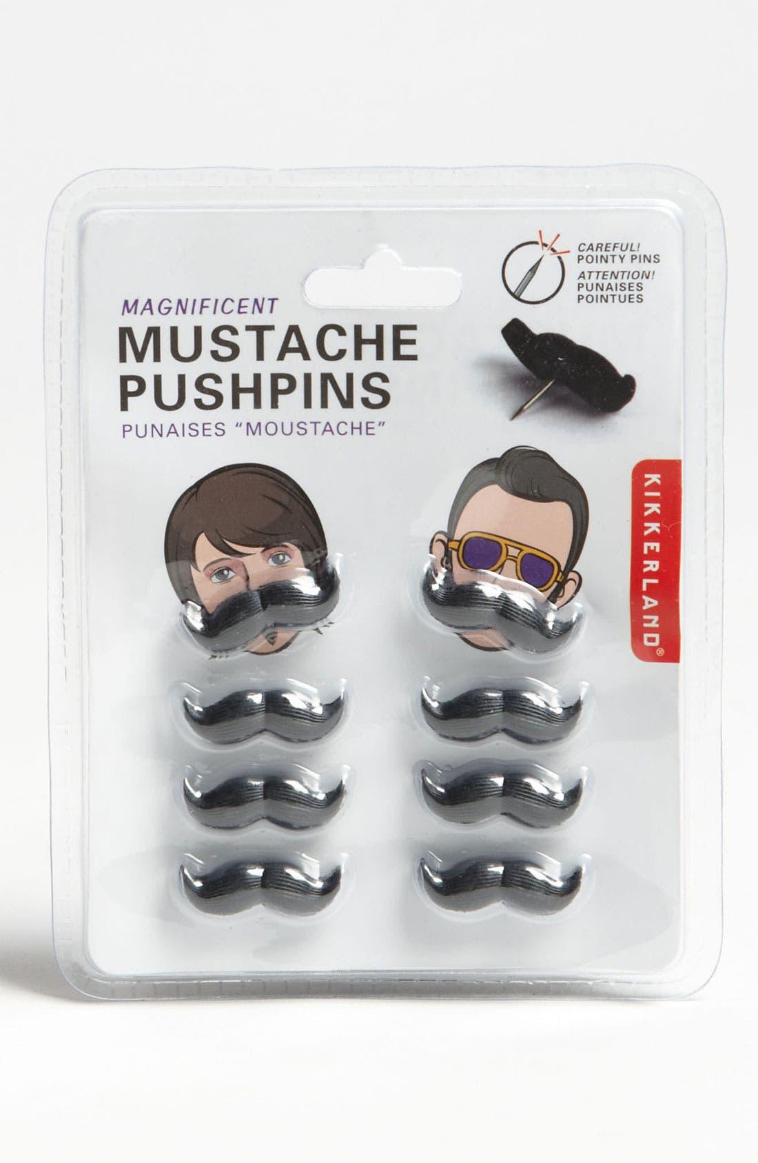 Alternate Image 1 Selected - Kikkerland Design Mustache Push Pins (Set of 8)