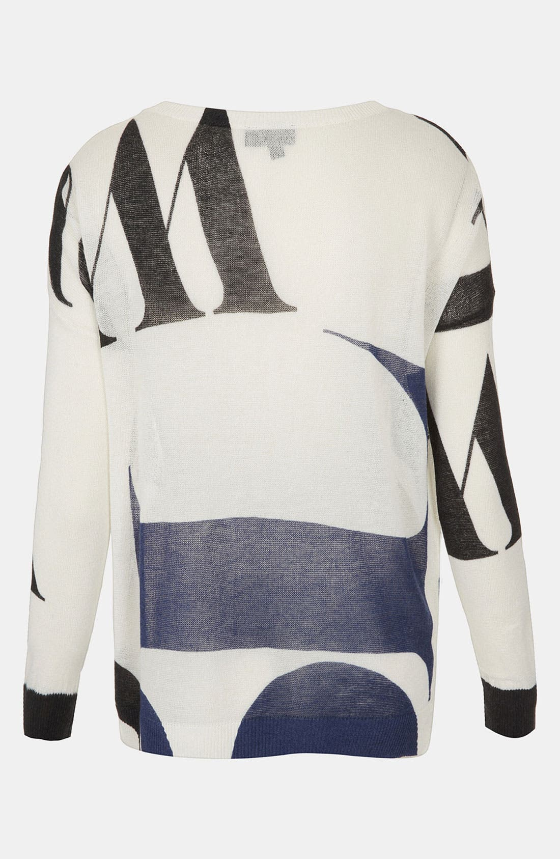 Alternate Image 2  - Topshop 'Arthaus Letter' Print Sweater