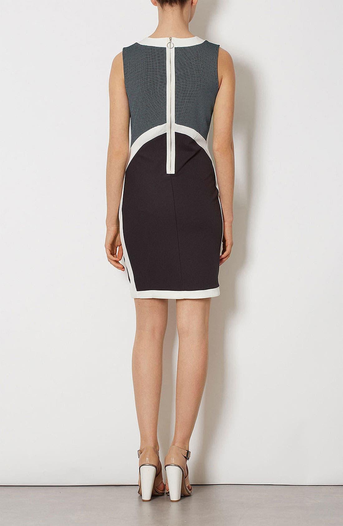 Alternate Image 3  - Topshop Mixed Media Body-Con Dress