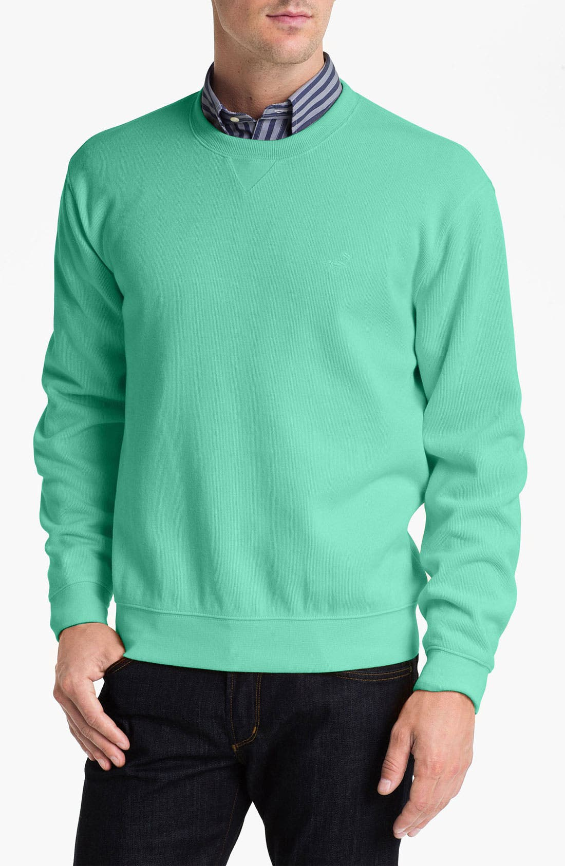 Alternate Image 1 Selected - Façonnable Crewneck Regular Fit Sweatshirt