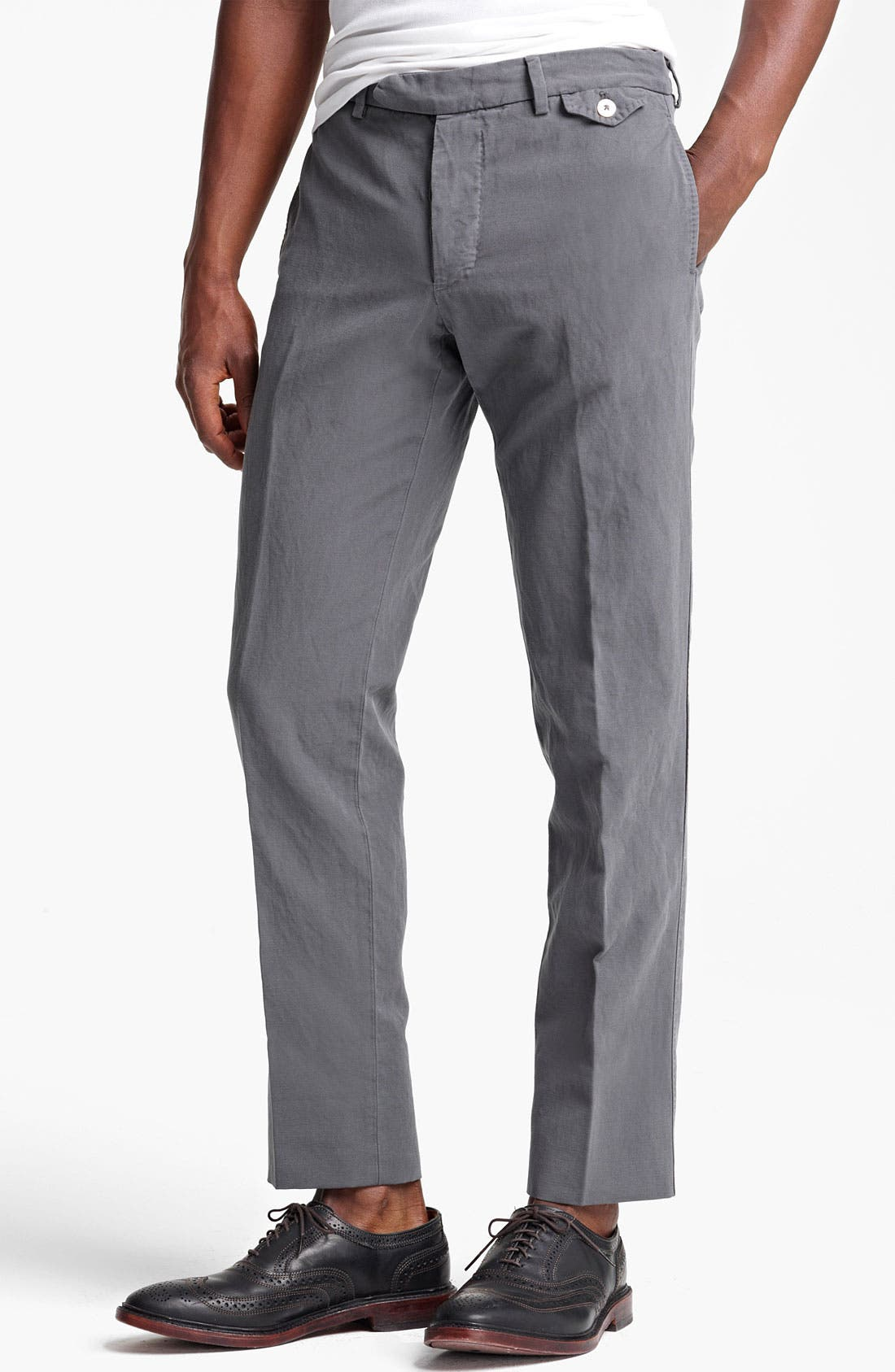 Main Image - Michael Bastian Garment Dyed Trousers