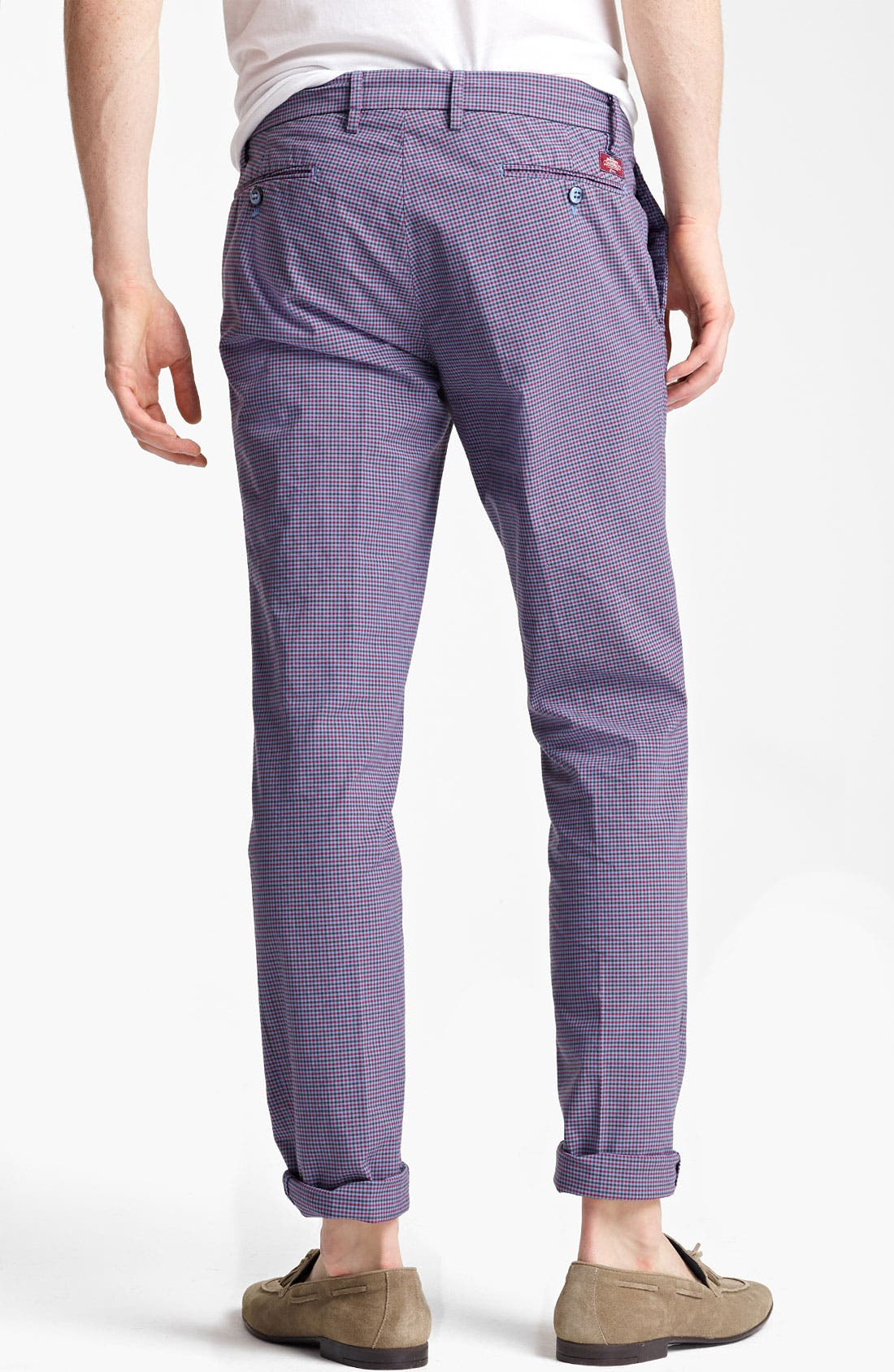 Alternate Image 2  - Mason's Check Straight Leg Pants