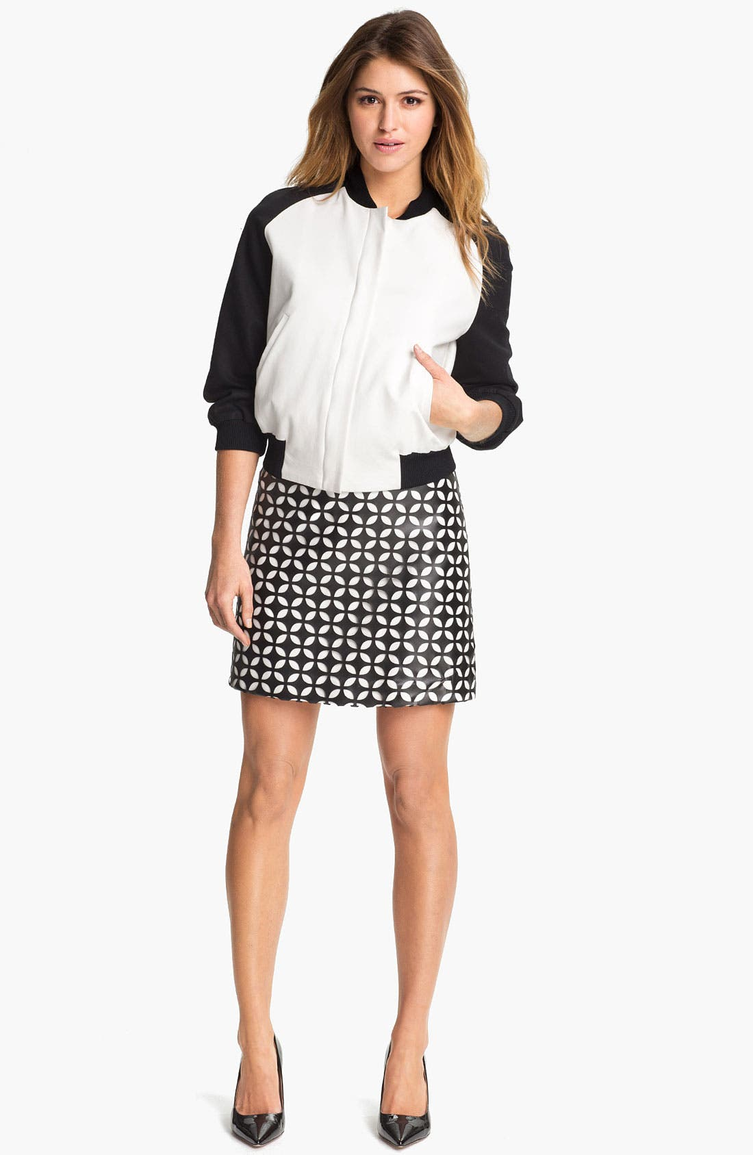 Alternate Image 4  - Vince Camuto Mod Cutout Faux Leather Skirt