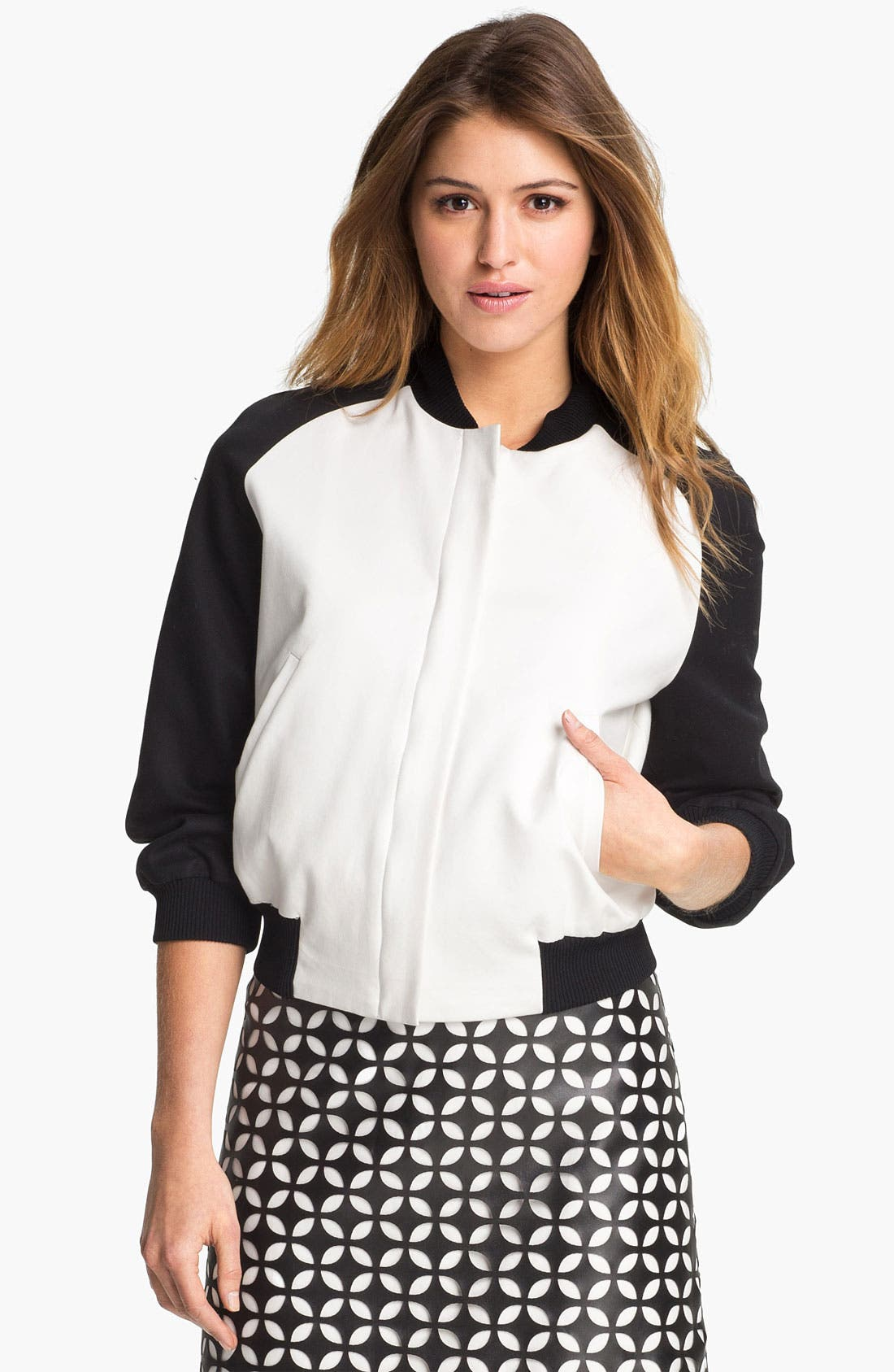 Alternate Image 1 Selected - Vince Camuto Baseball Jacket
