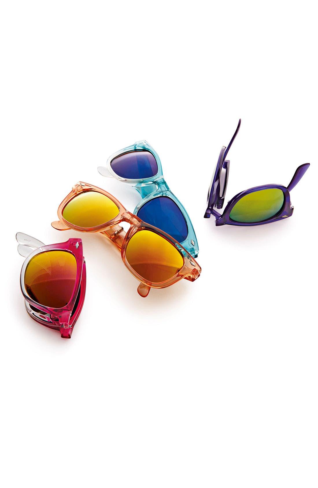 Alternate Image 3  - Icon Eyewear Foldable Sunglasses (Girls)