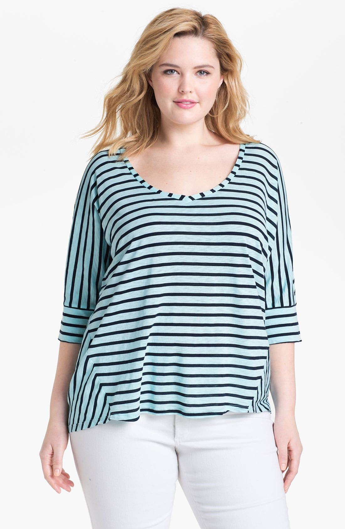 Alternate Image 1 Selected - Splendid 'Miami' Stripe Cotton Top (Plus)