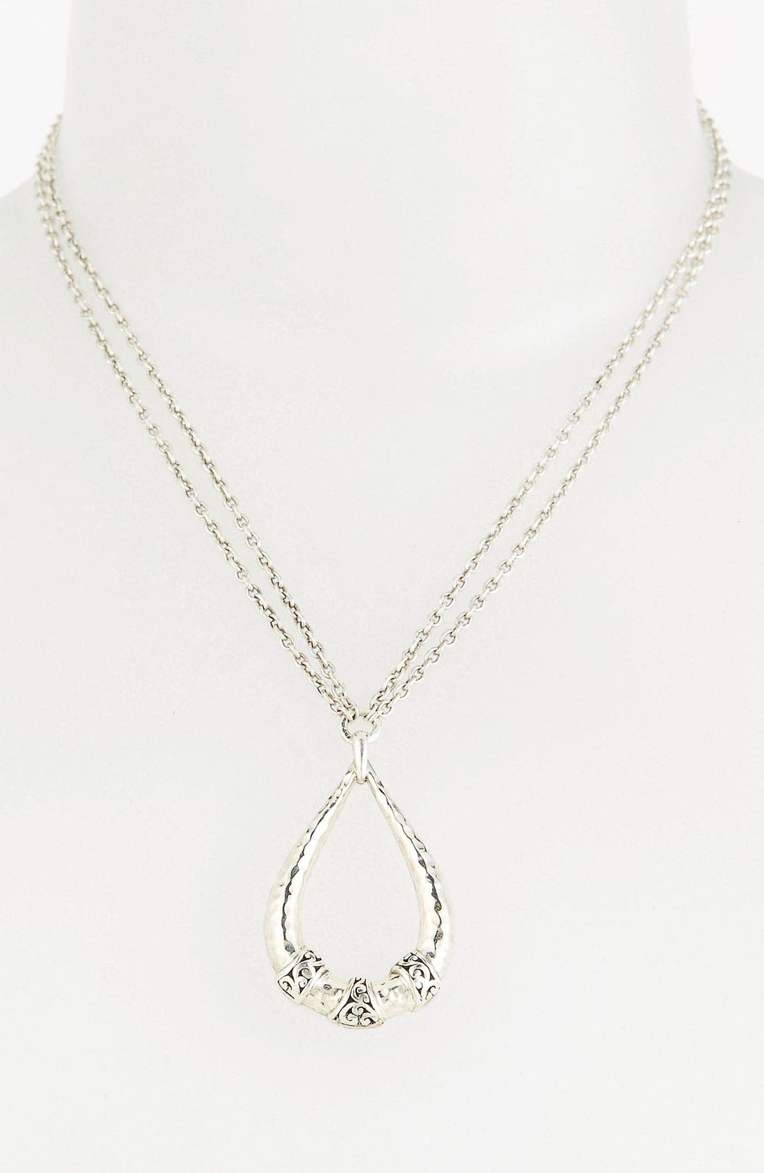 Main Image - Lois Hill 'Classy Cutout Waves' Teardrop Pendant Necklace