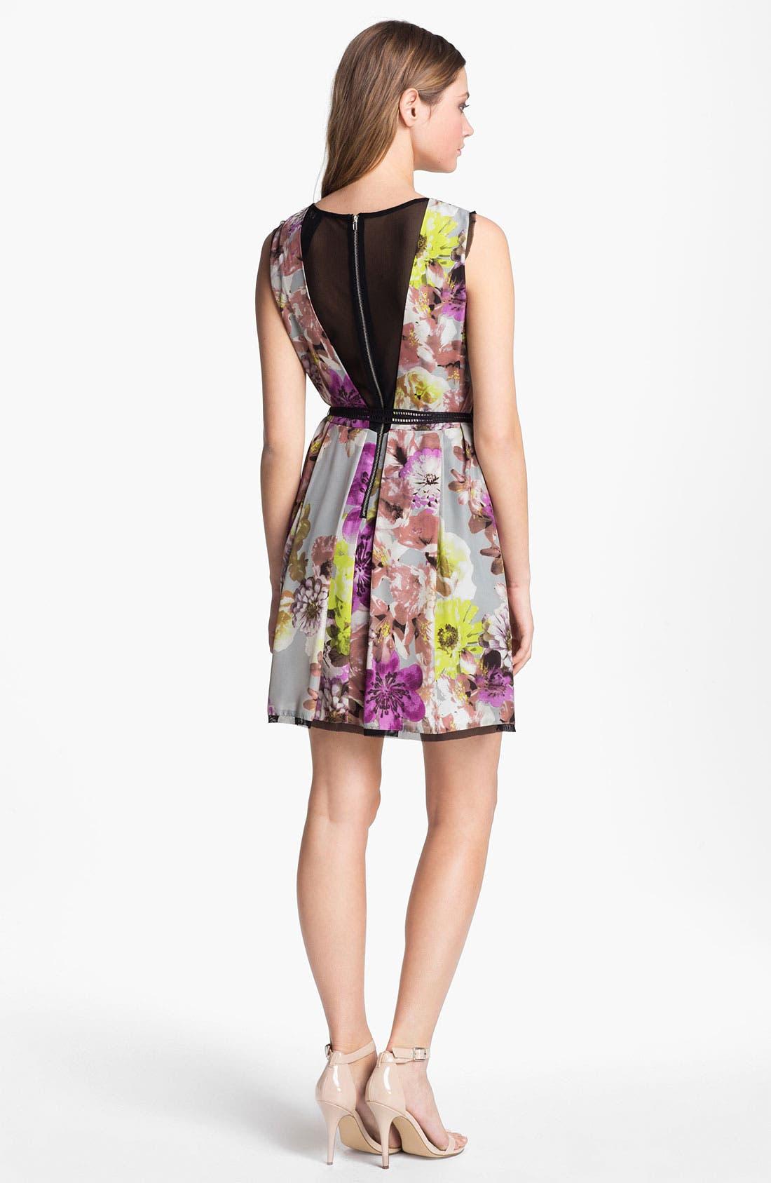 Alternate Image 2  - LABEL by five twelve Floral Print Fit & Flare Dress