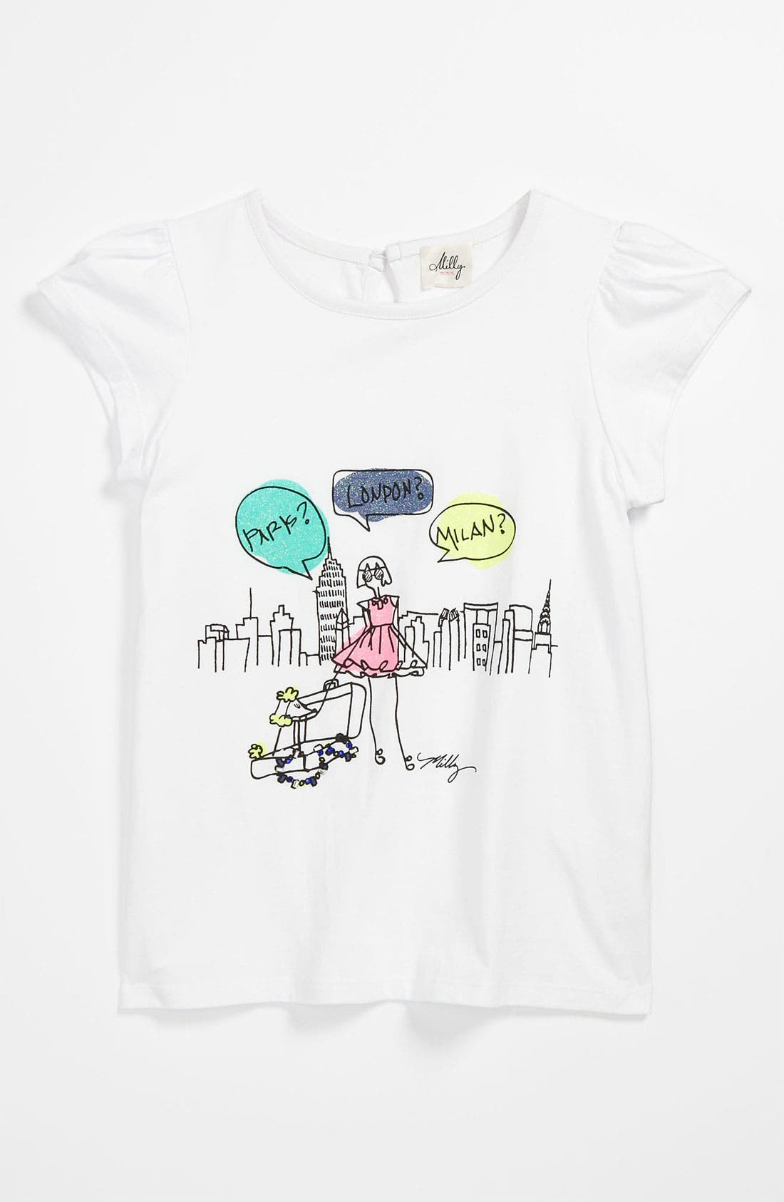 Alternate Image 1 Selected - Milly Minis 'Flutter' Tee (Little Girls & Big Girls)