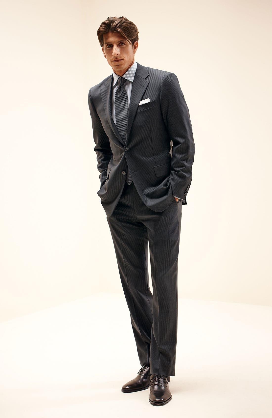 Alternate Image 7  - Hickey Freeman 'Beacon' Stripe Wool Suit