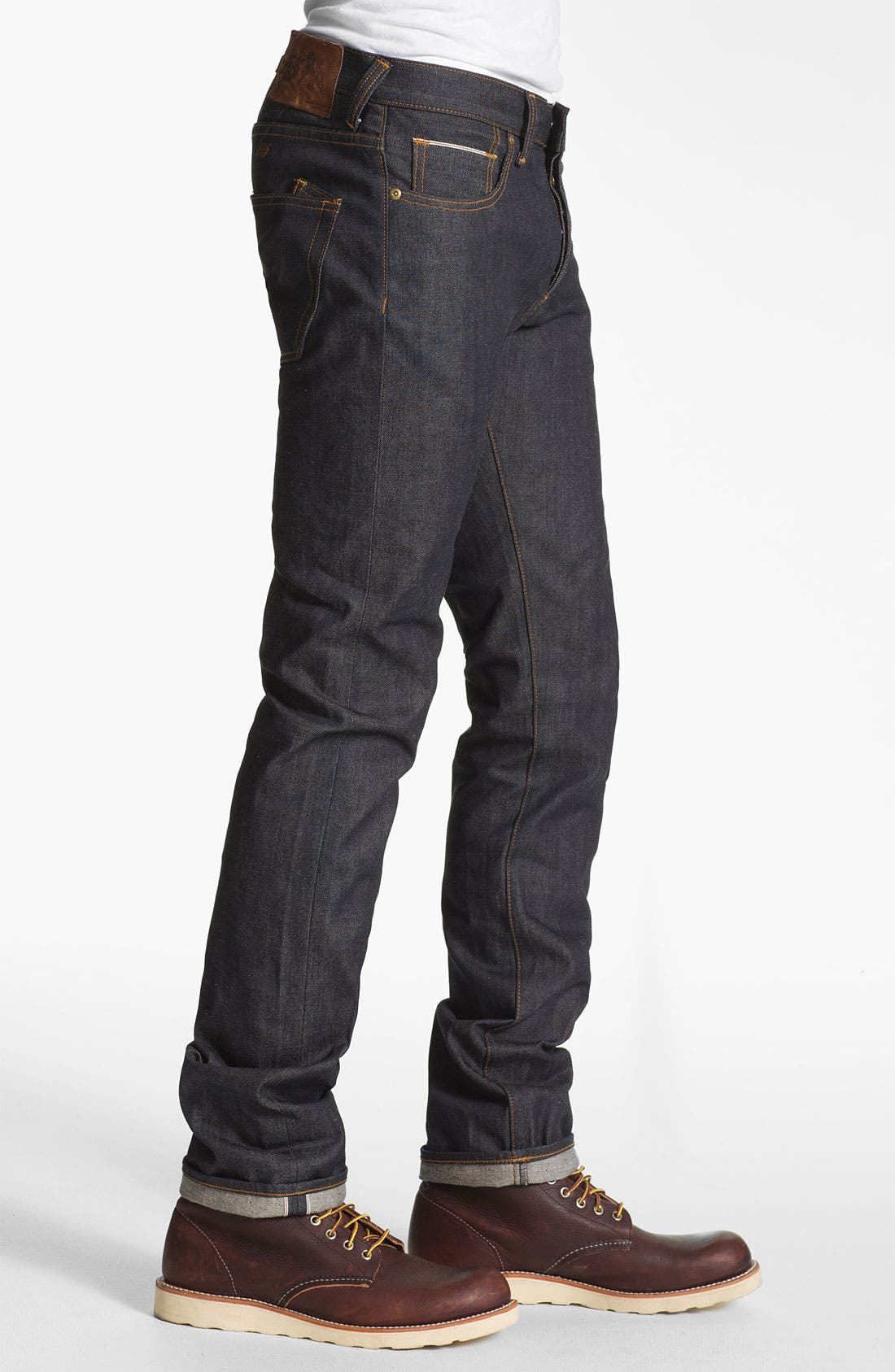 Alternate Image 3  - PRPS 'Rambler' Slim Fit Selvedge Jeans (Raw)