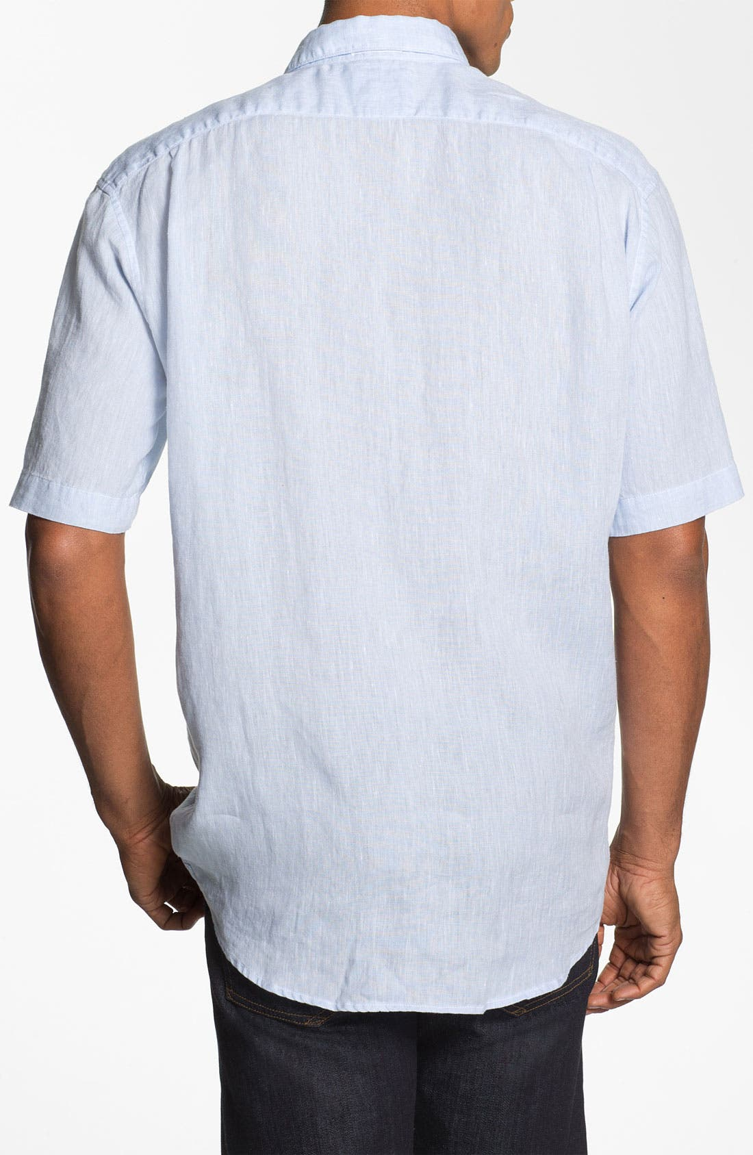 Alternate Image 2  - Lacoste Short Sleeve Linen Shirt
