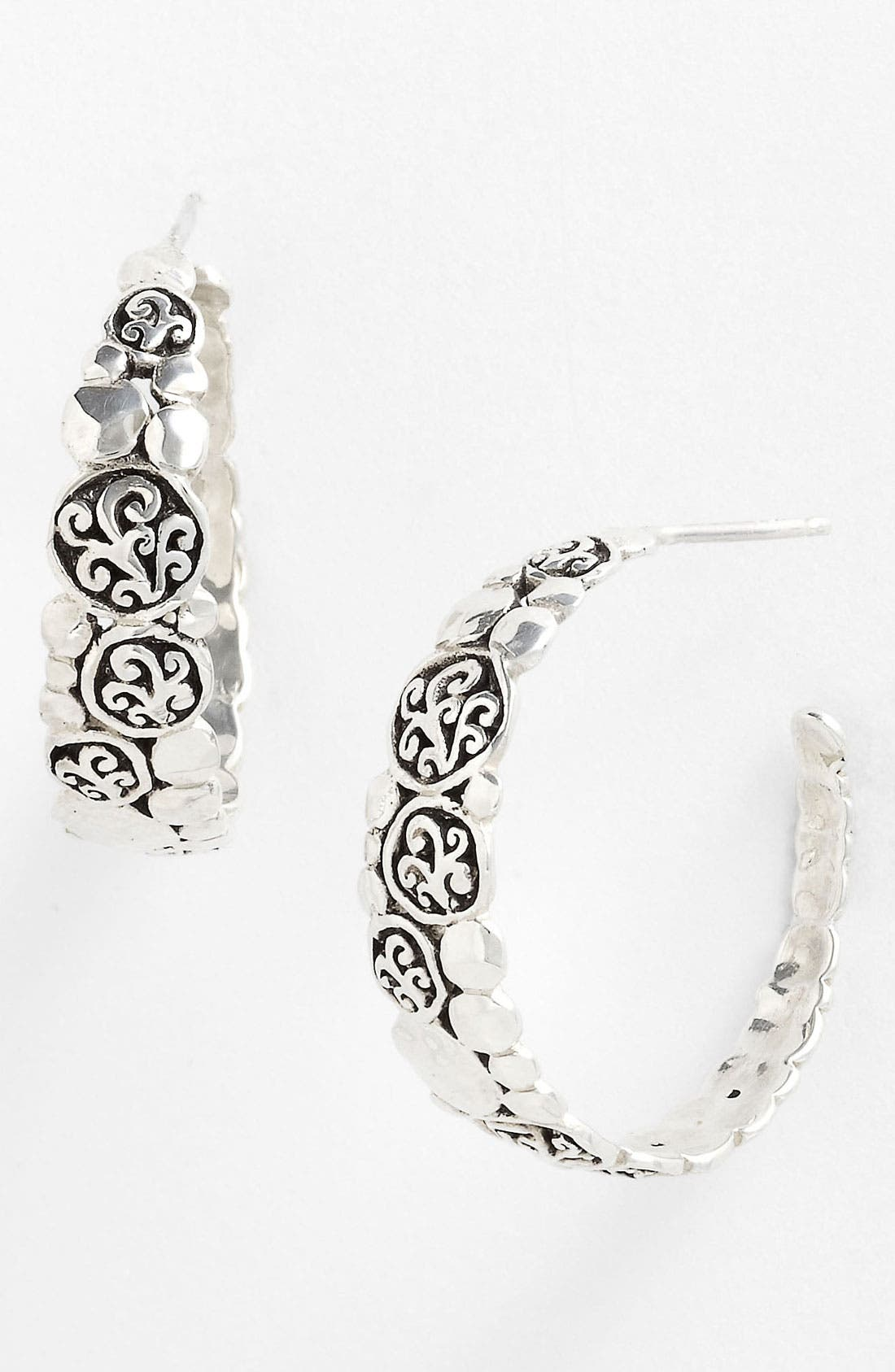 Main Image - Lois Hill 'Classy Cutout Waves' Large Hoop Earrings