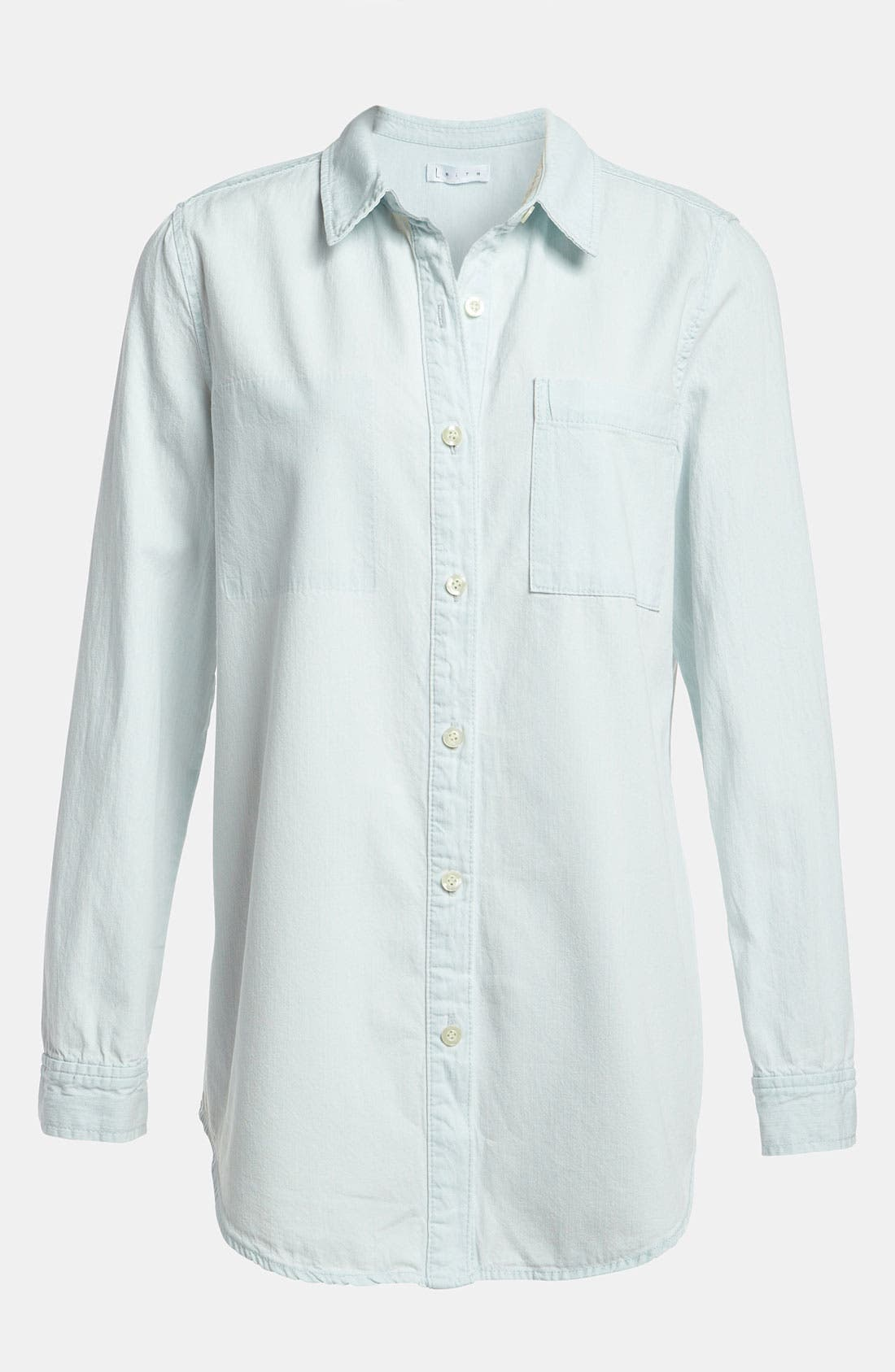 Alternate Image 1 Selected - Leith Relaxed Chambray Shirt
