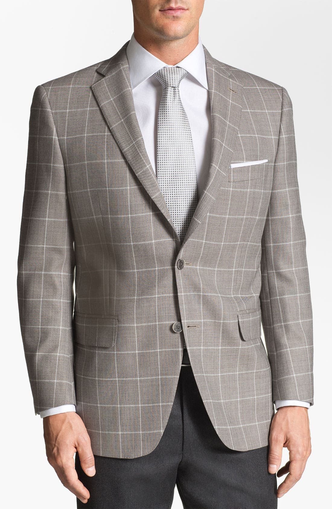 Alternate Image 1 Selected - Peter Millar Windowpane Wool Sportcoat