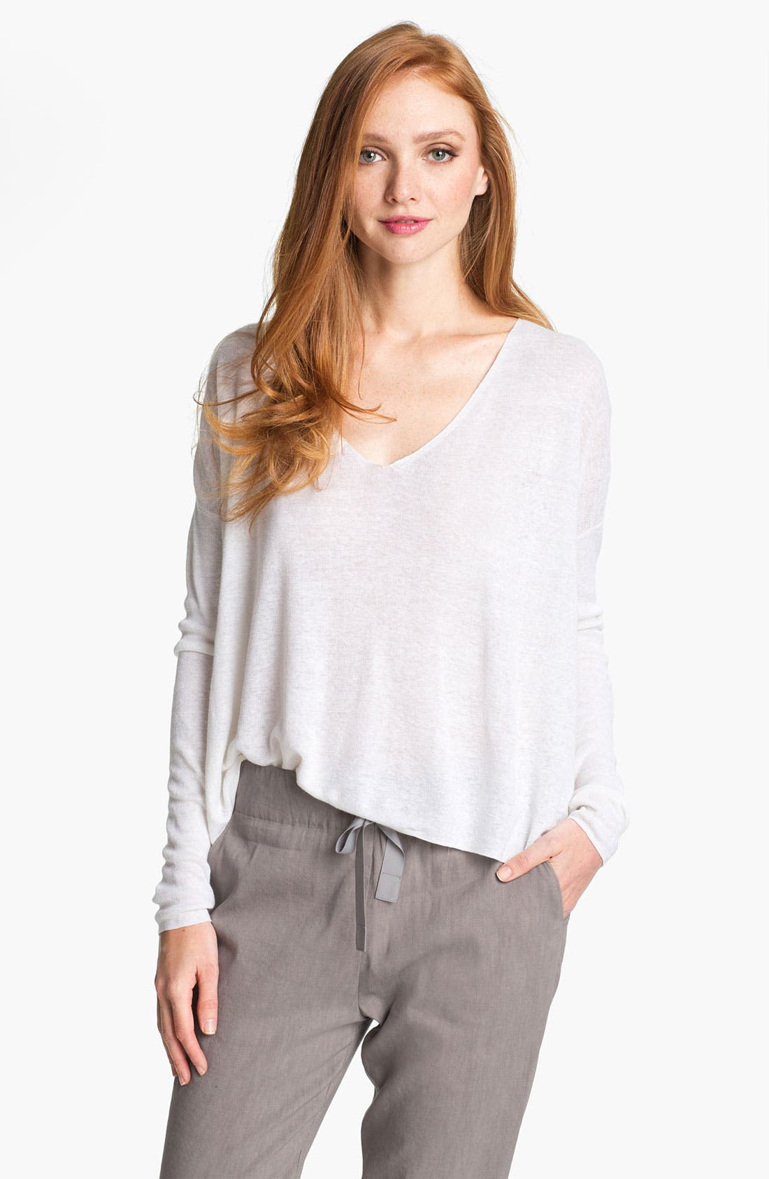 Alternate Image 1 Selected - Theory 'Randelle' Crop Sweater