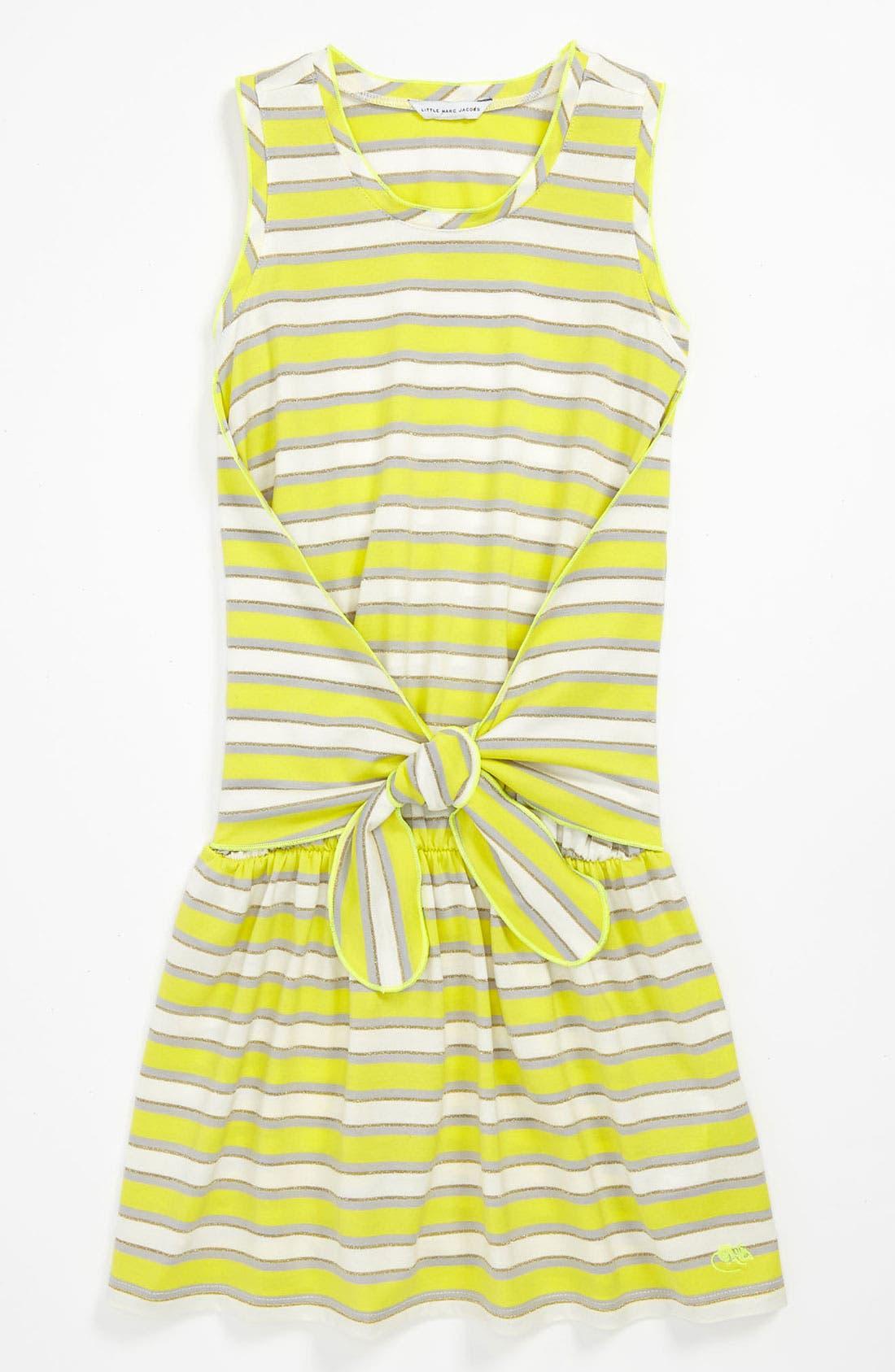 Main Image - LITTLE MARC JACOBS Sleeveless Chambray Dress (Little Girls & Big Girls)
