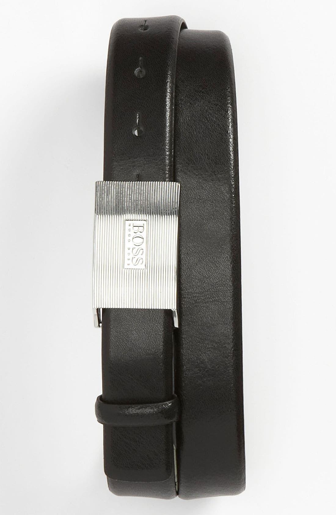 Alternate Image 1 Selected - BOSS Black 'Eusos' Belt