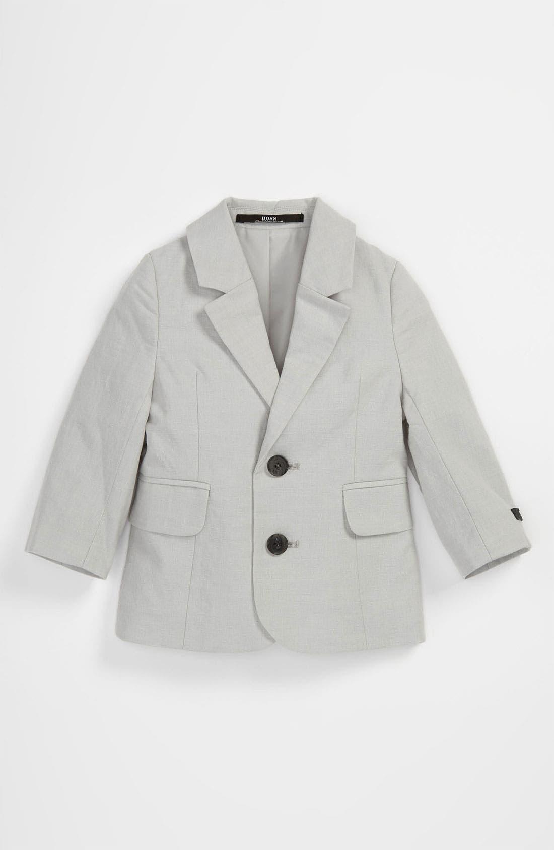 Main Image - BOSS Kidswear Two Button Linen Blend Jacket (Baby & Toddler)