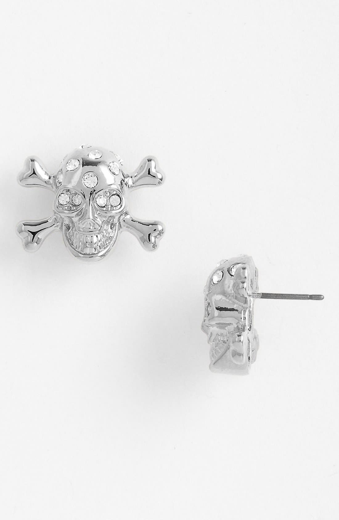 Main Image - Cara Skull Stud Earrings