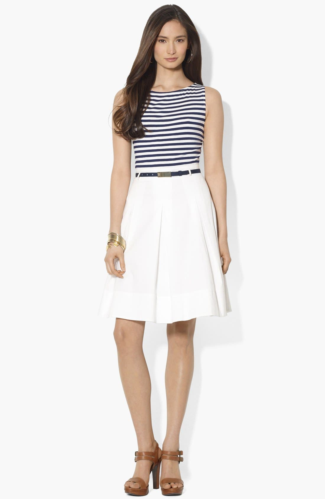 Alternate Image 1 Selected - Lauren Ralph Lauren Mock Two Piece Dress