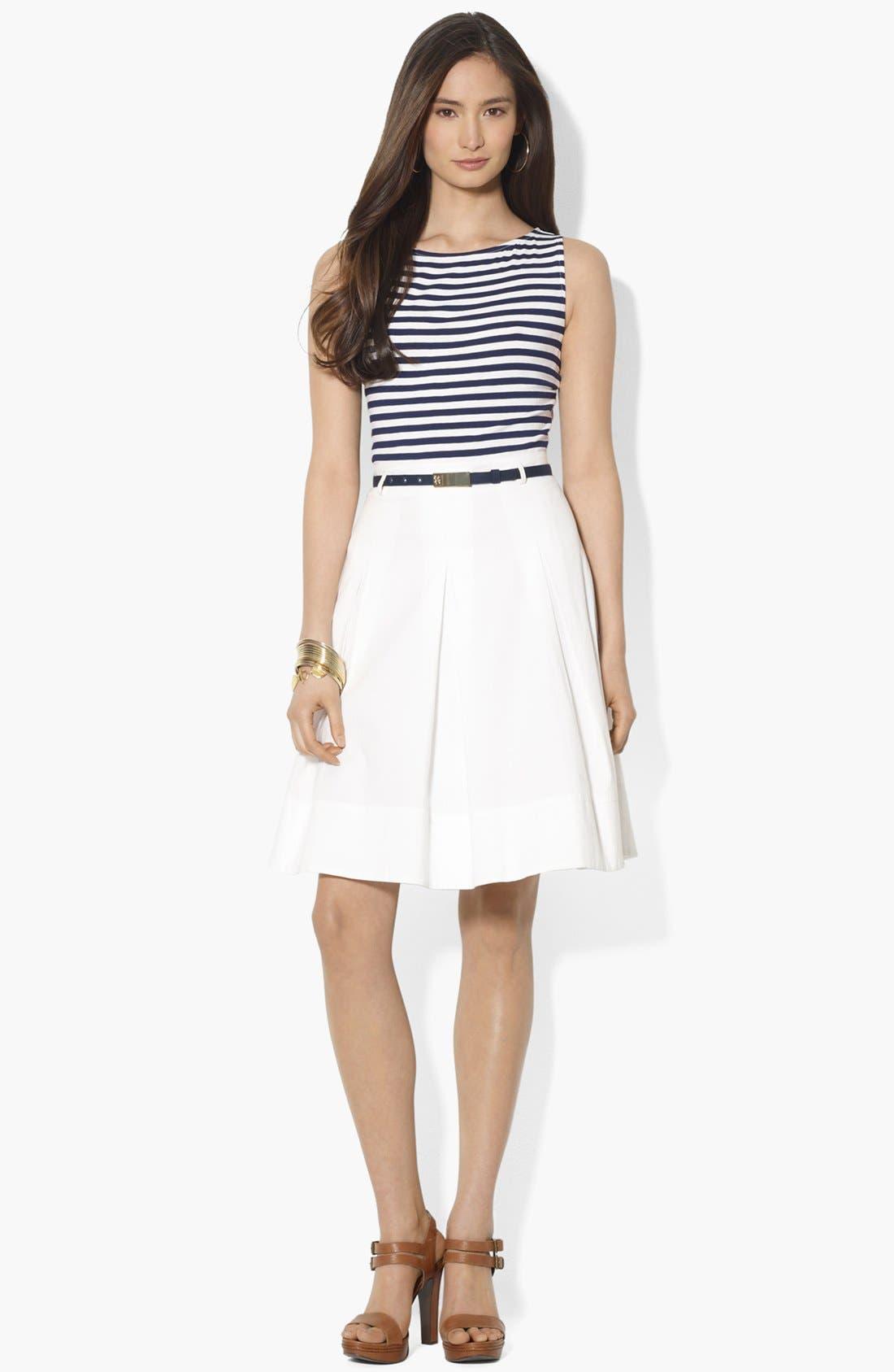 Main Image - Lauren Ralph Lauren Mock Two Piece Dress
