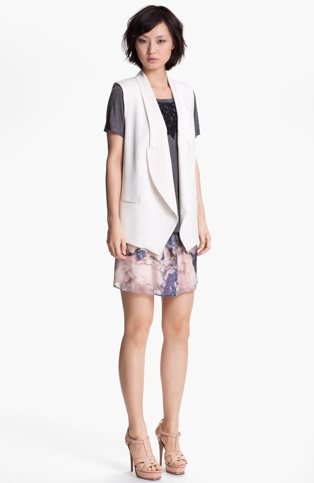 Alternate Image 4  - Haute Hippie Floral Print Silk Skirt