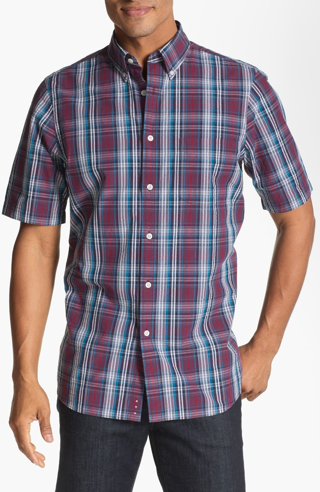 Main Image - Nordstrom Regular Fit Seersucker Sport Shirt