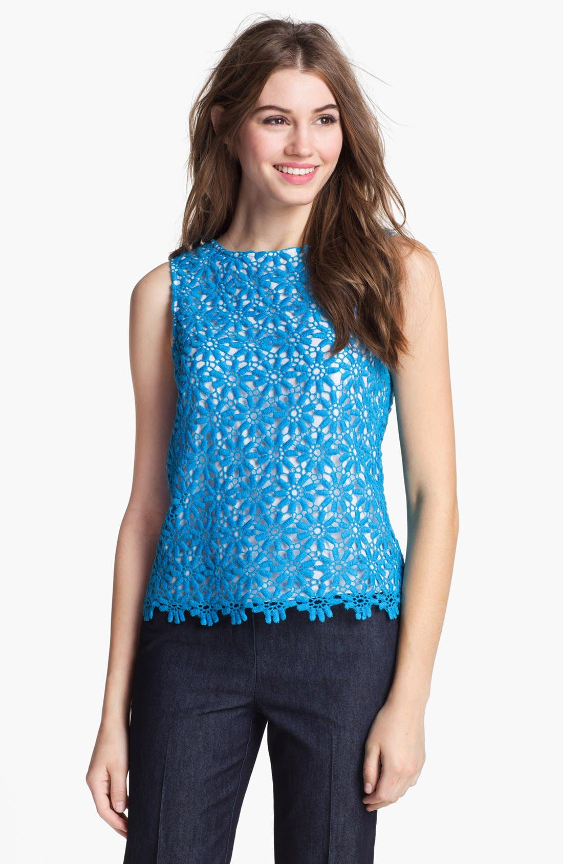 Alternate Image 1 Selected - Vince Camuto Sleeveless Lace Blouse