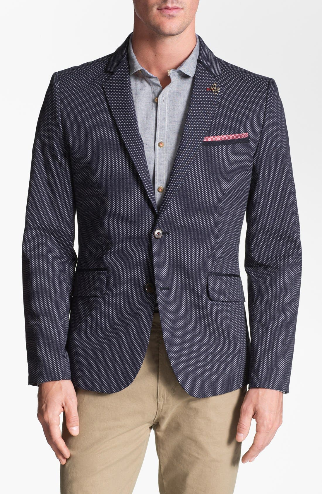 Alternate Image 1 Selected - Ted Baker London 'Zabjak' Cotton Blend Blazer