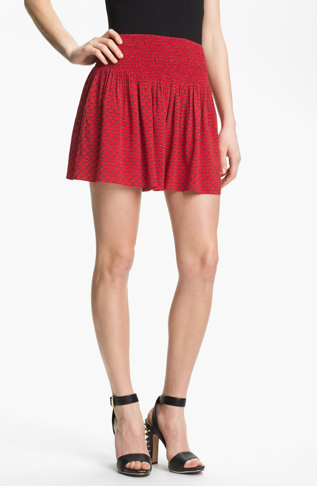 Main Image - Two by Vince Camuto Smock Waist Print Shorts
