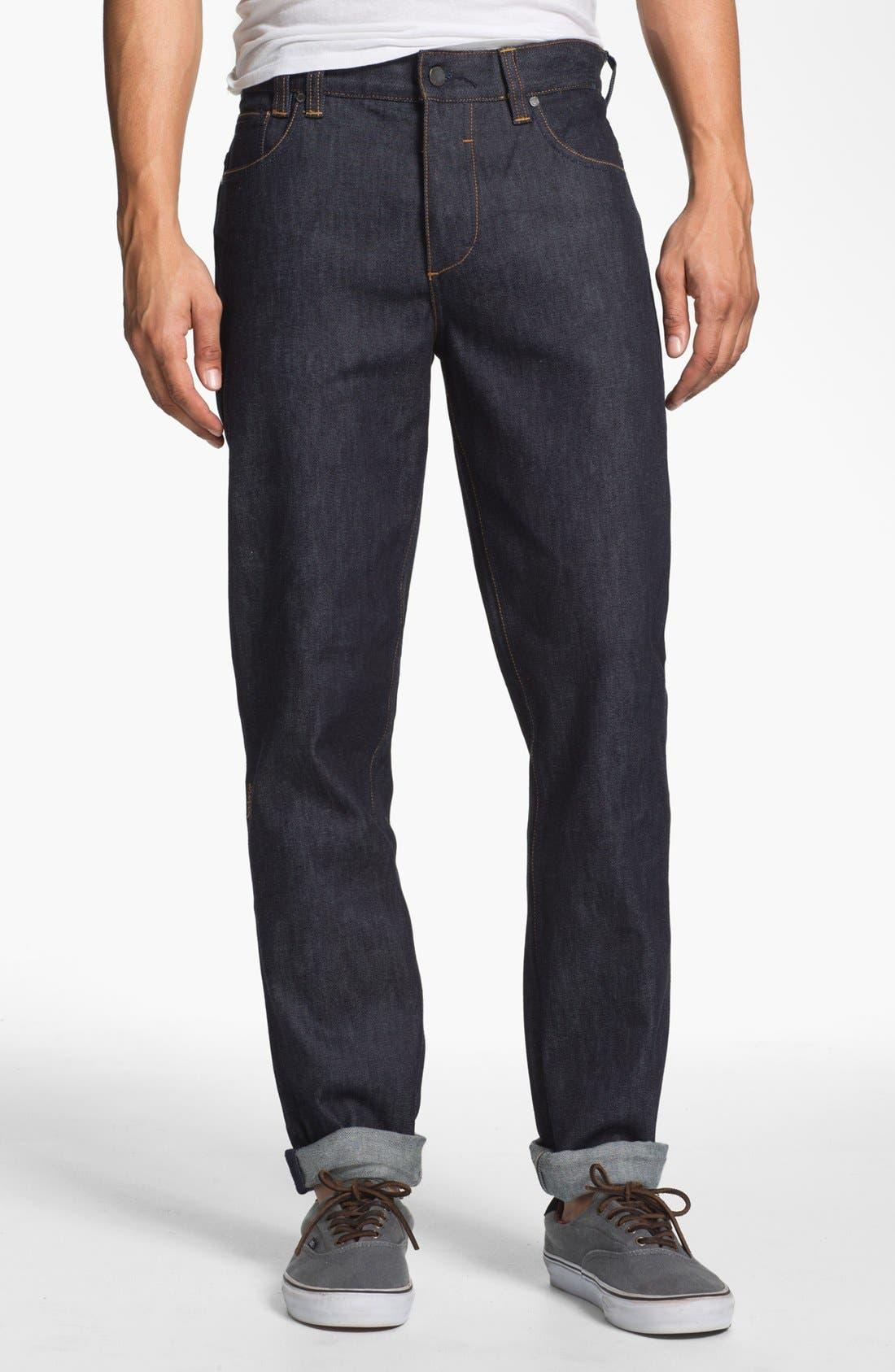 Alternate Image 2  - Insight 'Loose Joints' Slim Leg Jeans (Indigo Raw)
